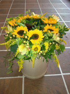 floristischem Geschick und viel Kreativität Sonnenblume