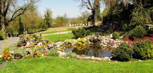 Münsingen Wasserlauf Friedhof